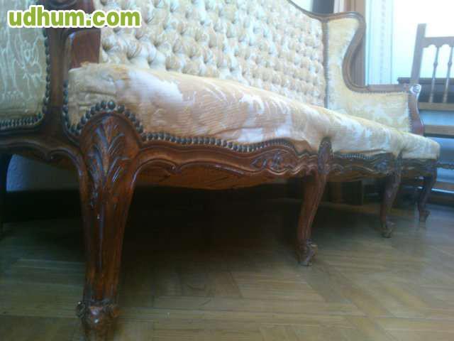 Antiguo sof isabelino for Sofa 70 cm profundidad