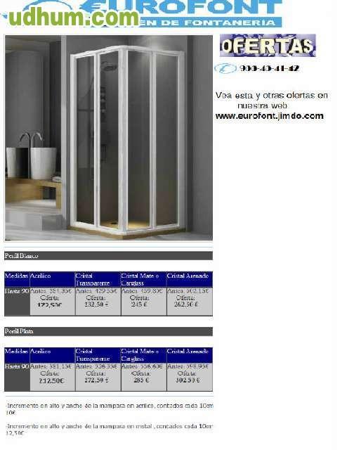 Mamparas y muebles precio f brica for Muebles la fabrica precios