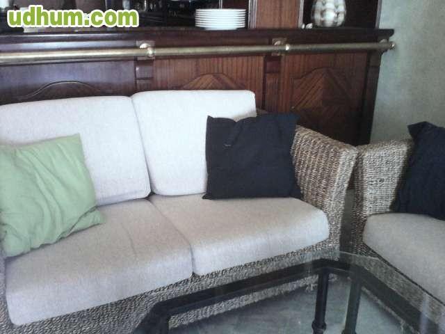Sofas de fibra vegetal o mimbre y madera 1 - Sofas de mimbre ...