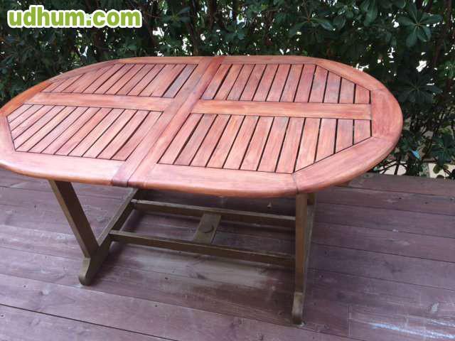 Mesa jardin madera teca for Mesas jardin madera baratas
