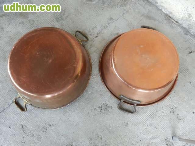 Dos cazuelas en cobre para mermelada - Cazuelas de cobre ...