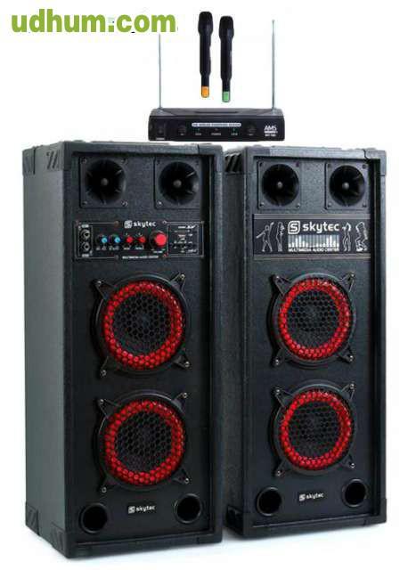 Altavoces Karaoke Con Microfonos