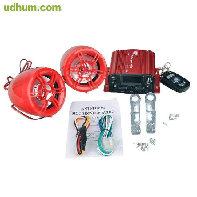 Equipo sonido 100w con alarma y mando for Sonido de alarma