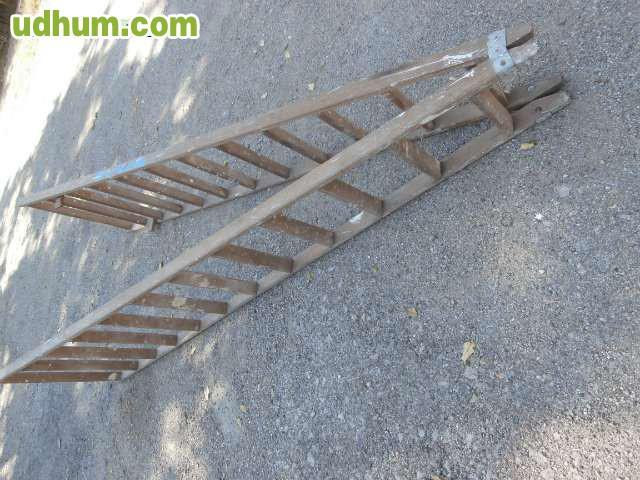 Escalera tijera de madera de 3 metros for Escalera tijera de madera