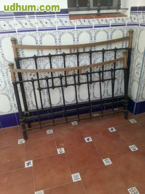 Cama antigua de forja de 135cm - Camas de forja antiguas ...