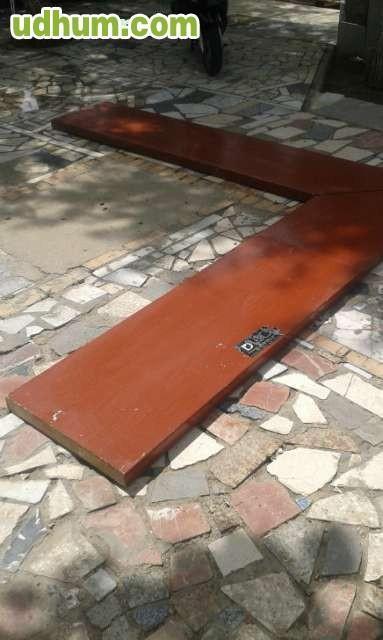 Barra de bar en madera maciza 268x254 for Bar madera sevilla