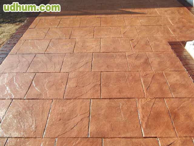 Pavimento impreso economico 3 - Hormigon decorativo para suelos ...