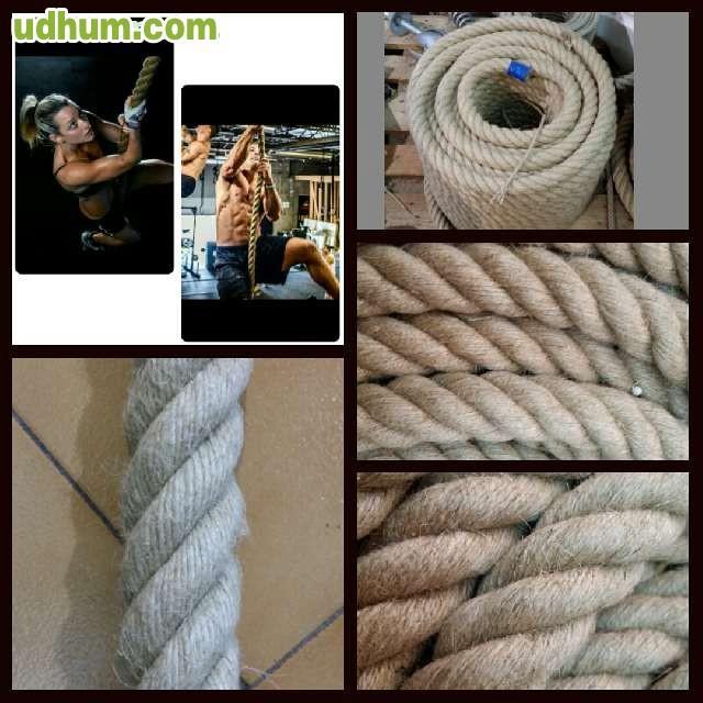 Cuerda soga cabo c amo 26mm 4 cabos for Soga de canamo