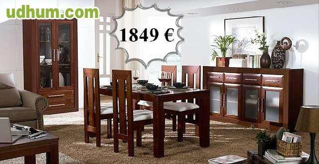 Mueble sal n madera maciza negro 280 cm for Muebles ledesma