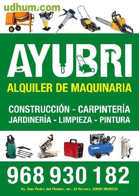 Alquiler de maquinaria bricolaje for Maquinaria de jardineria