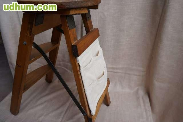 Original taburete escalera revistero de - Taburete escalera madera ...