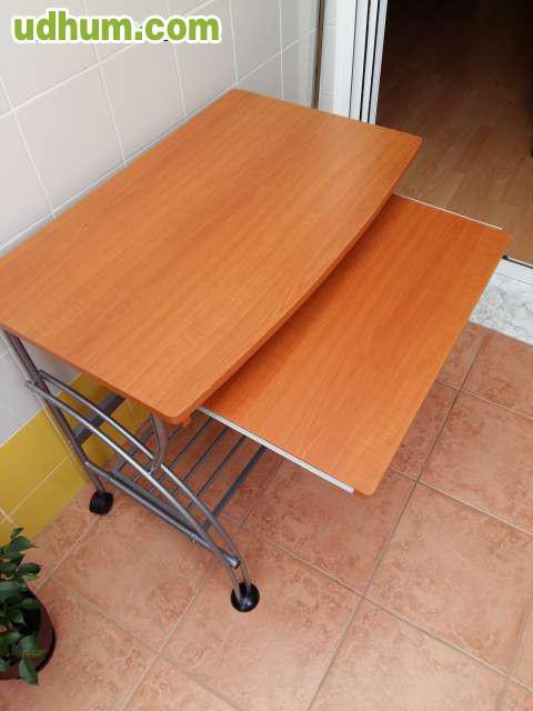 Mesa de escritorio con ruedas for Mesa escritorio con ruedas