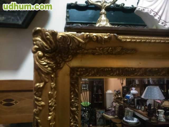 Espejo marco dorado grande for Espejo dorado grande