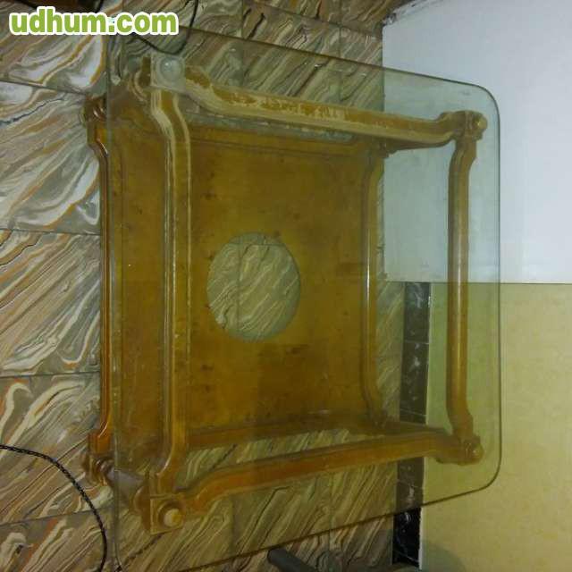 Mesa baja de cristal y metacrilato car interior design - Mesa baja cristal ...