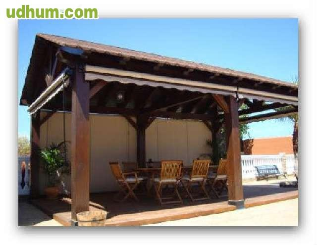Pergolas cobiertas porches tejados - Tejados para pergolas ...