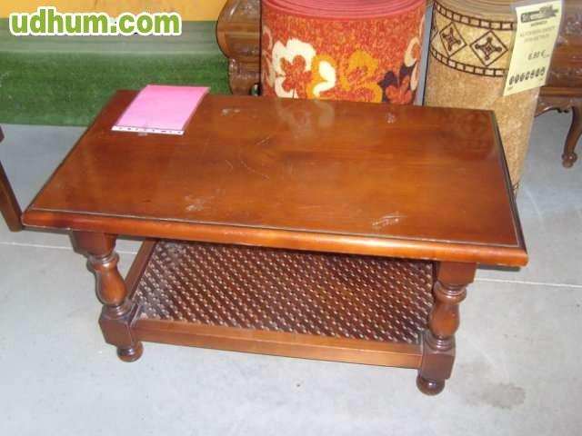 Mesa madera maciza torneada 6 sillas for Mesa cristal milanuncios