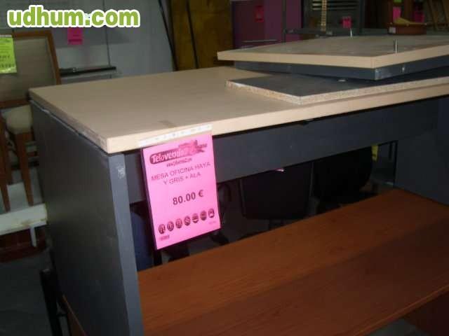 Mesa de oficina cristal aluminio 140x80 for Mesa cristal oficina