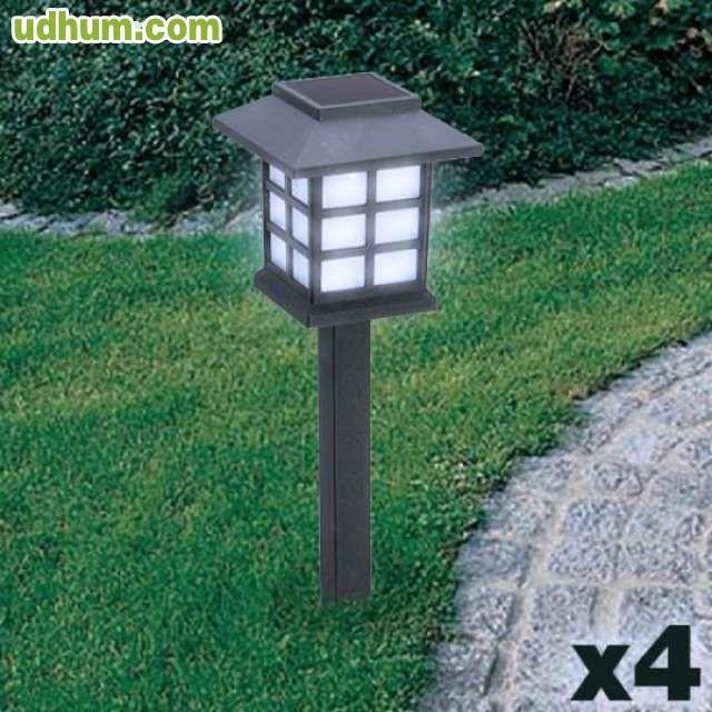 L mpara solar jard n pack de 4 7 - Farol solar para jardin ...