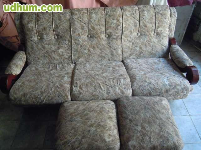 Sof de tres plazas con 2 pufs - Sofa para tres ...