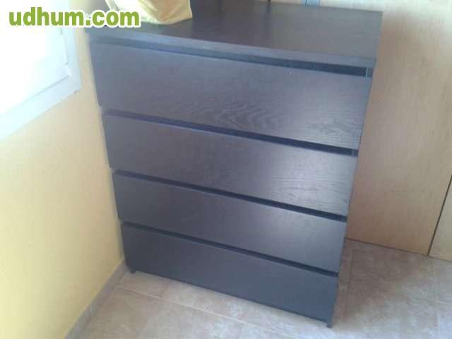 Ikea malm c moda de 4 cajones negro marr - Comoda malm 4 cajones ...