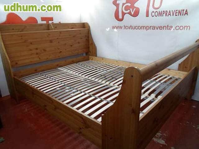 Estructura de cama madera ikea lamas for Estructura cama 90x190