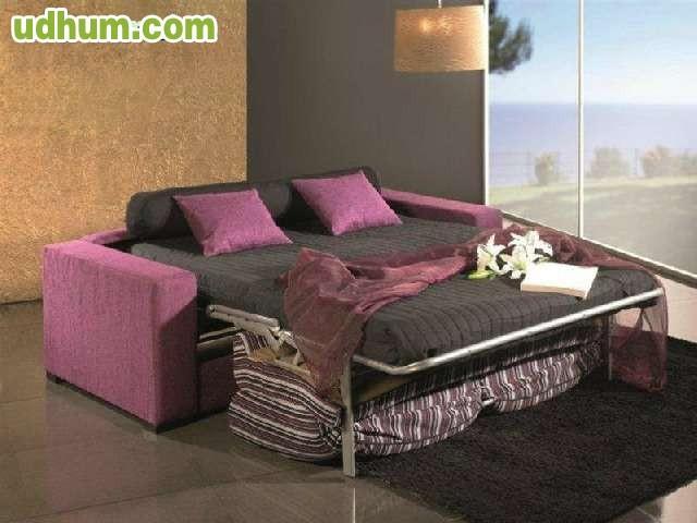 Sofa 3 plazas cama de 135 180 somier for Precio somier 135