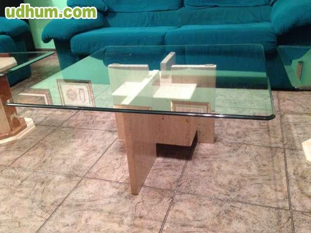 Mesas y hall marmol travertino lamparas for Vendo marmol travertino
