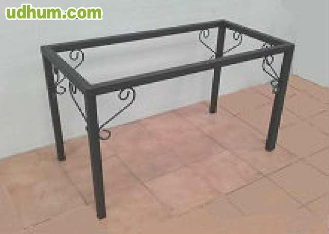 Mesa de forja de fabrica para comedor 2 - Fabrica de mesas de comedor ...