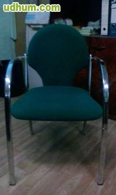 Vendo 5 sillones oficina for Vendo caseta metalica