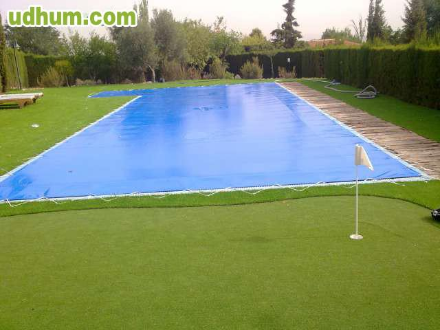 Toldos cobertor termico enrolladores for Fabricacion de piscinas