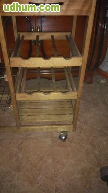 Mesa auxiliar camarera en madera 1 for Mesa camarera plegable