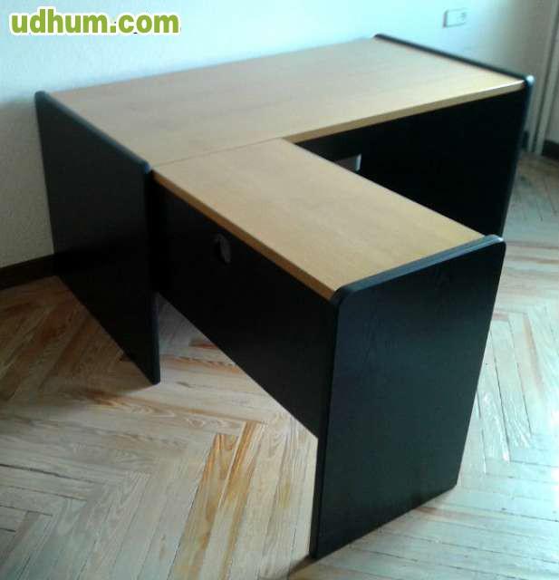 Mesa oficina con archivador segunda mano for Mesa oficina segunda mano
