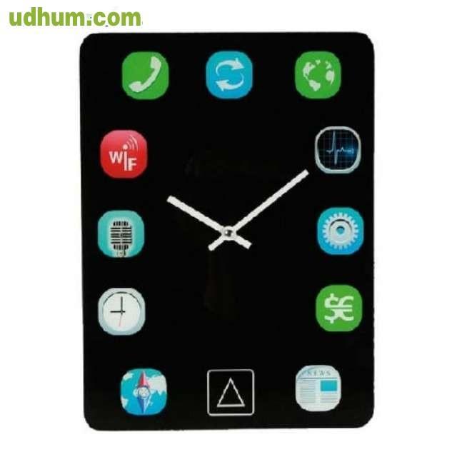 Reloj de pared dise o ipad 2 - Reloj de pared de diseno ...