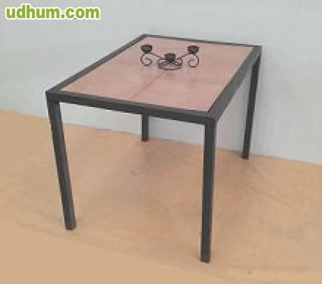 Mesa de forja de fabrica para comedor 1 - Fabrica de mesas de comedor ...