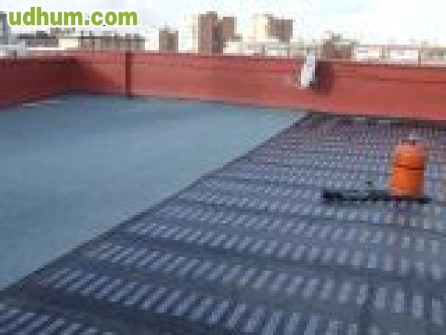 Goteras impermeabilizacion canalones for Impermeabilizar terraza transitable