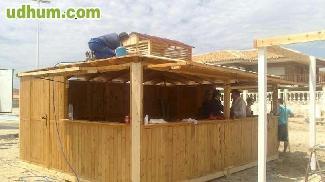 Fabricacion de chiringuitos de playa 4 for Alquiler chiringuito madera
