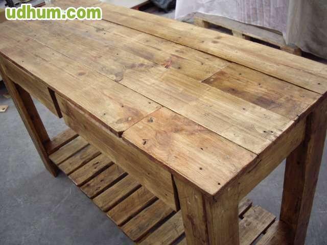 Muebles palets madera y metal for Muebles palets pdf