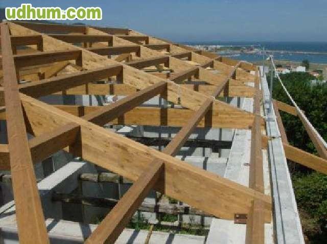 Cubiertas madera reformas tejados for Tejados madera ourense