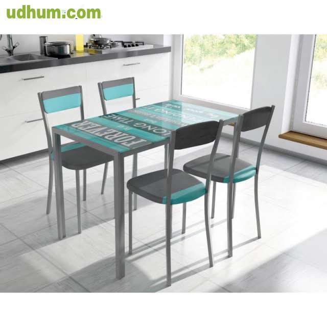 Conjuntos de mesas y sillas para cocina for Sillas para cocina precios