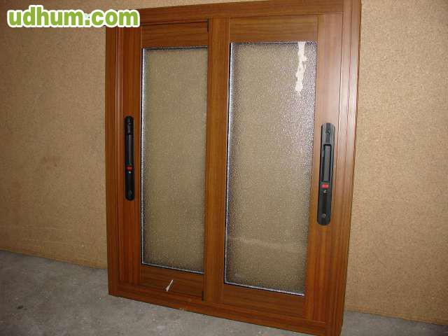 Ventanas aluminio color madera for Ventanales de aluminio imitacion madera