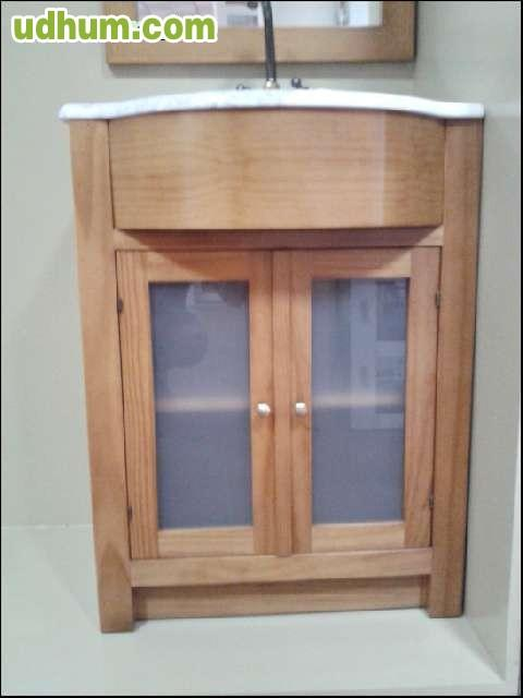 Mueble ba o madera maciza 60cm - Muebles bano madera maciza ...