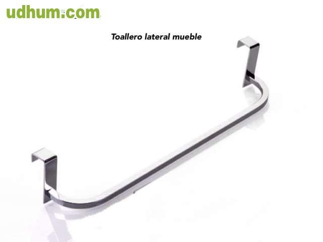 Toallero lateral mueble sin taladro for Toalleros de bano sin taladro
