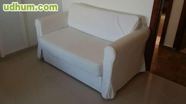 SOFu00c1 CAMA IKEA HAGALUND CON FUNDA BLANCA