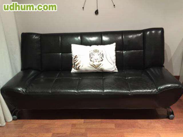 Sofa cama vintage negro for Sofa cama vintage