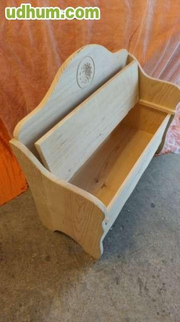 Banco arc n tallado madera mmacizo for Banco arcon madera