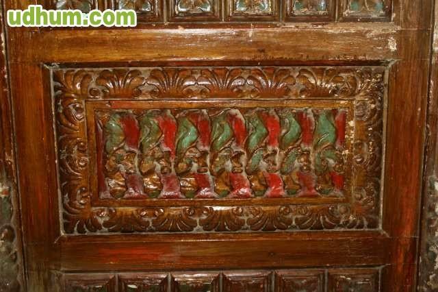 Cabecero antiguo madera tallada - Cabecero madera tallada ...