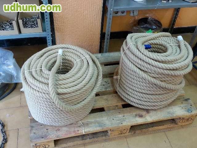 Cuerda soga cabo c amo 30mm 4 cabos for Soga de canamo