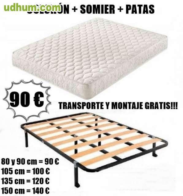 Somieres muy baratos solo 27 euros for Somier 135 barato
