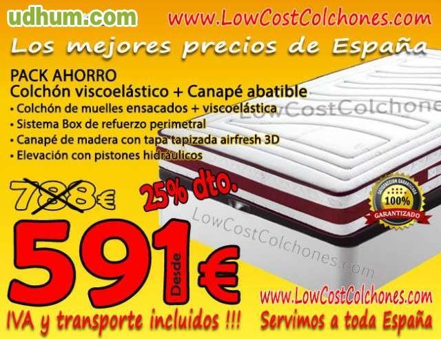 Pack oferta colchon canape almohada for Oferta canape y colchon