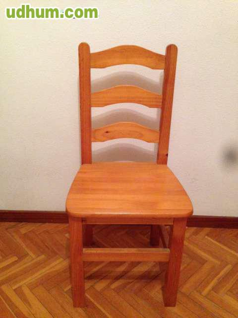 Mesa y silla de escritorios for Sillas de madera para escritorio